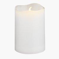 Candela SOREN Ø5xH8cm bianca con LED