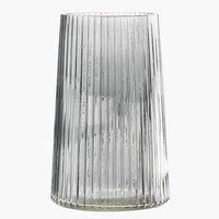 Vaso ROY Ø13xH20cm vetro grigio