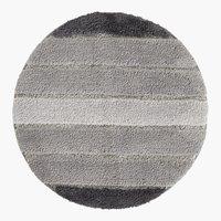Tappetino bagno STRIPE Ø60 grigio