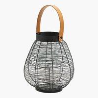 Lantern HUBERTUS Ø22xH25cm black
