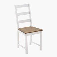 Sedia WIEN bianco/marrone
