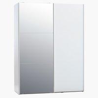 Armadio TARP 151x201 con specchio bianco